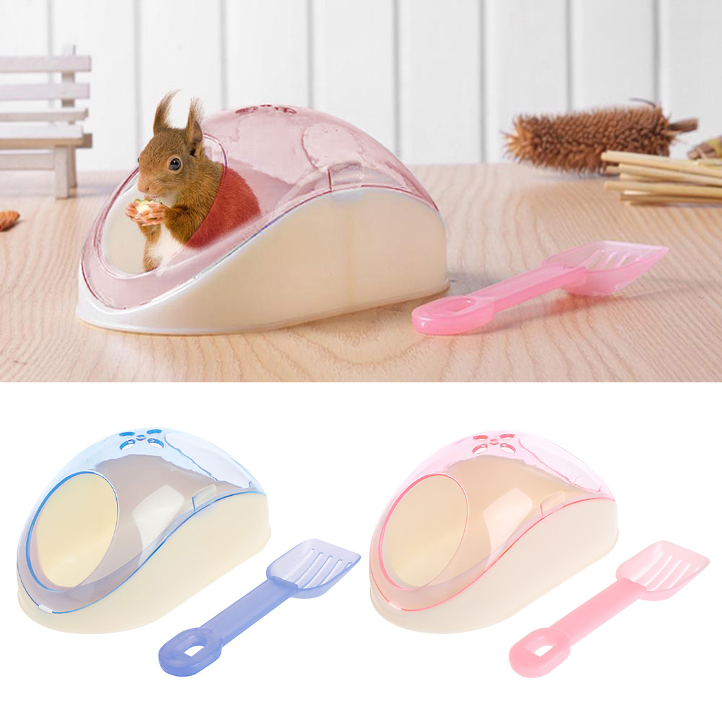 Cute Hamster Bathroom Creative Hamster Sand Bathroom Sand Bath Container With Shovel Pet Cleaning Supplies