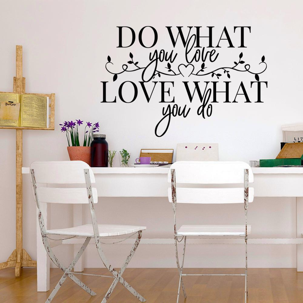 US $2.6 |Love Do What You Do Wall Lettering Stickers Inspirational Quotes  Sayings Art Home Decal Wall Decor Stickers for Bedroom Kids Ro on AliExpress
