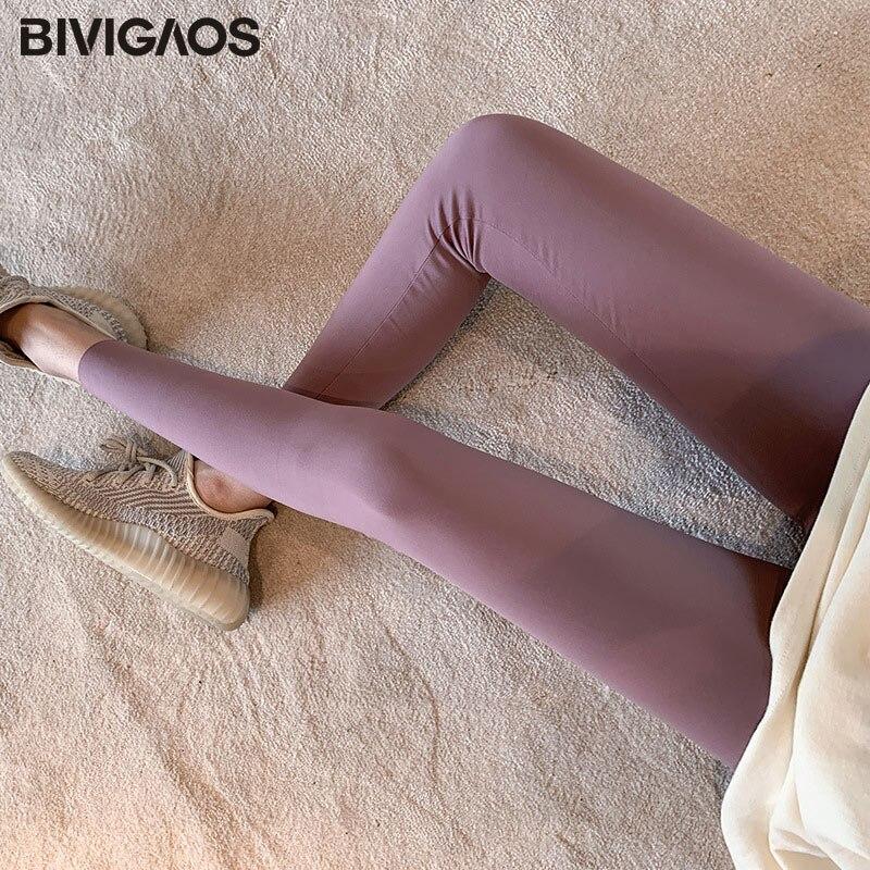 BIVIGAOS New 3-Color Sharkskin Leggings Women Spring Summer Thin Skinny Legs Fitness Leggings Pressure Elastic Sport Leggings 8