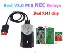 הטוב ביותר V3 V3.0 PCB NEC ממסרים 9241 שבב VD DS150E CDP 2017.R3 סדק Bluetooth אבחון כלי עבור Delphis מכוניות משאיות סורק