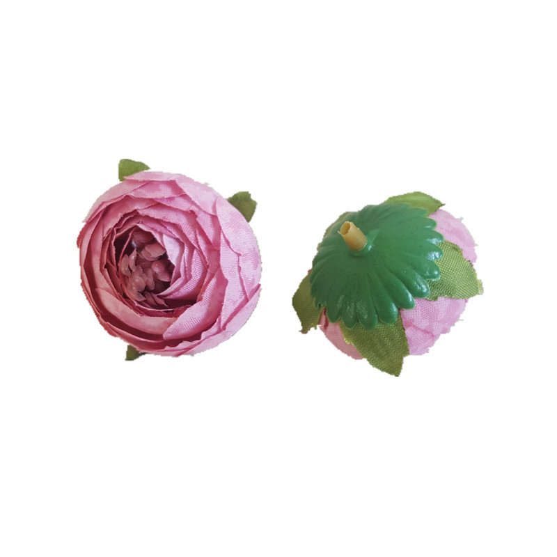 20PCS 3.5cm 8Colors Artificial small tea rose bud camellia flowers wedding decoration diy hair hat accessory photo props