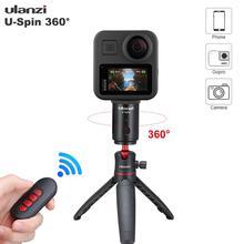 Tripé elétrico ulanzi u spin 360, cabeça e tripé com rotação, para smartphones, gopro, câmera de ação, dslr, intervalo de tempo