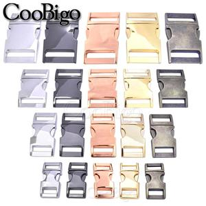 Image 3 - New 100pcs 10mm 15mm 20mm 25mm Metal Side Release Buckles for Paracord Bracelet Dog Cat Collar Buckles DIY Accessories