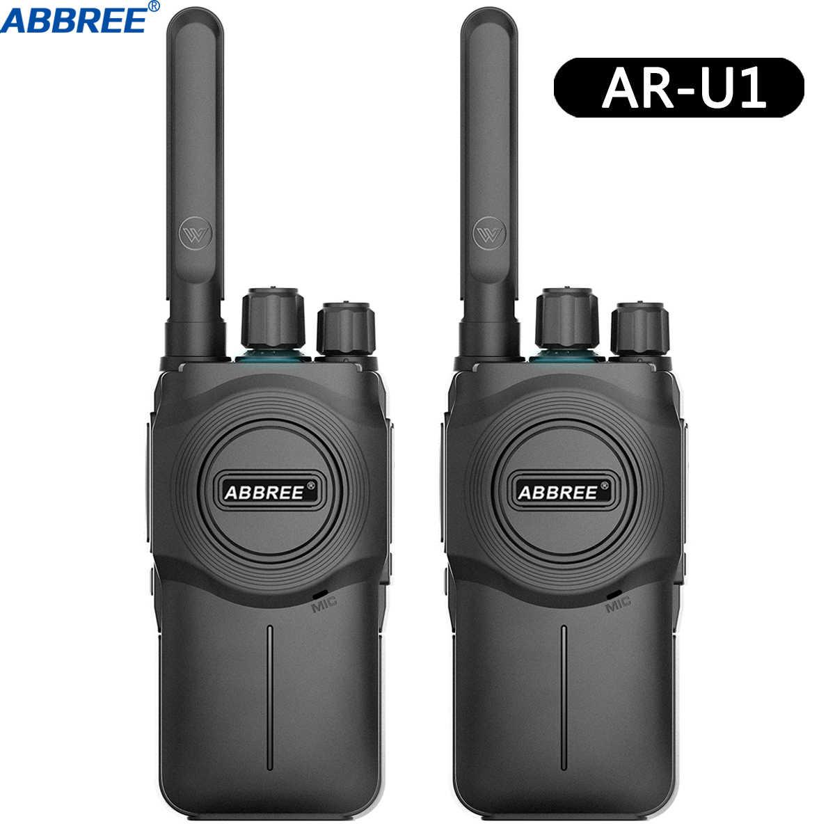 2 шт. ABBREE AR-U1 10 км Большая дальность мощная рация Портативный CB 5 Вт UHF 400-470 МГц любительский двухполосный радиоприемник