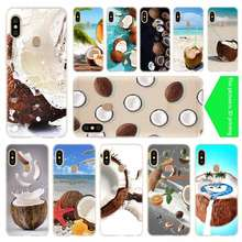 Fruit Coconut on beach Baseus Clear Case For Xiaomi Redmi 8A 7A 4X 4a 5 Plus 7a 5a S2 6a 6 Note 8 7 5 K20 Pro Fundas Soft Back(China)