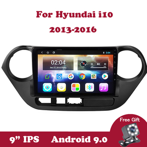 Android 9.0 Multimedia Stereo Player For Hyundai Grand I10 2008-2012 Left and Right Hand Drive Car Radio DVD 2Din Tape Recorder