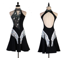 Latin Competition Dance Skirt Women Professional Black Sexy Samba Dancing Adult High Quality Dress