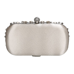 Image 3 - 結婚式クラッチバッグ女性シルバークラッチ財布高級パーティーバッグダイヤモンドチェーンハンドバッグクラッチラインストーンボルサfeminina ZD1336