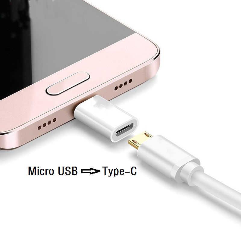 MI CRO USB หญิงประเภท C ชายอะแดปเตอร์สำหรับ Xiao Mi Mi 8 สีแดง Mi หมายเหตุ 7 Huawei P20 lite OnePlus 6 Samsung S8 PLUS S9 หมายเหตุ 9 5PCS