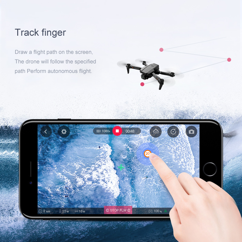 2020 New XT6 Mini 4K Drone HD Double Camera WiFi Fpv Air Pressure Altitude Hold Foldable Quadcopter rc helicopter child Toy Gift 6