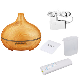 KBAYBO 550ml Remote Control Wood Grain Aromatherapy Moisturizer Essential Oil Humidifier Aroma Air Diffuser Mist Maker For Home
