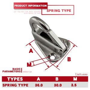 Image 5 - 5 Pcs/lot 316 Stainless Steel Spring Locked Fender Hooks Snap Fending Hook Attach Rope Boat Sail Tug Ship Marine Hardware