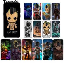 Guardians of the for Galaxy Marvel Black Soft Shell Phone Cover for Samsung Galaxy S9 plus S7 edge S6 edge plus S10 S8 marvel universe guardians of the galaxy