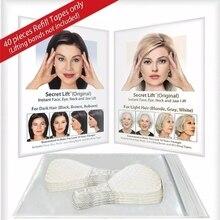 40 шт./компл. невидимые тонкие наклейки для лица, линия лица, морщины, потертая кожа, V-образная лента для подтяжки лица