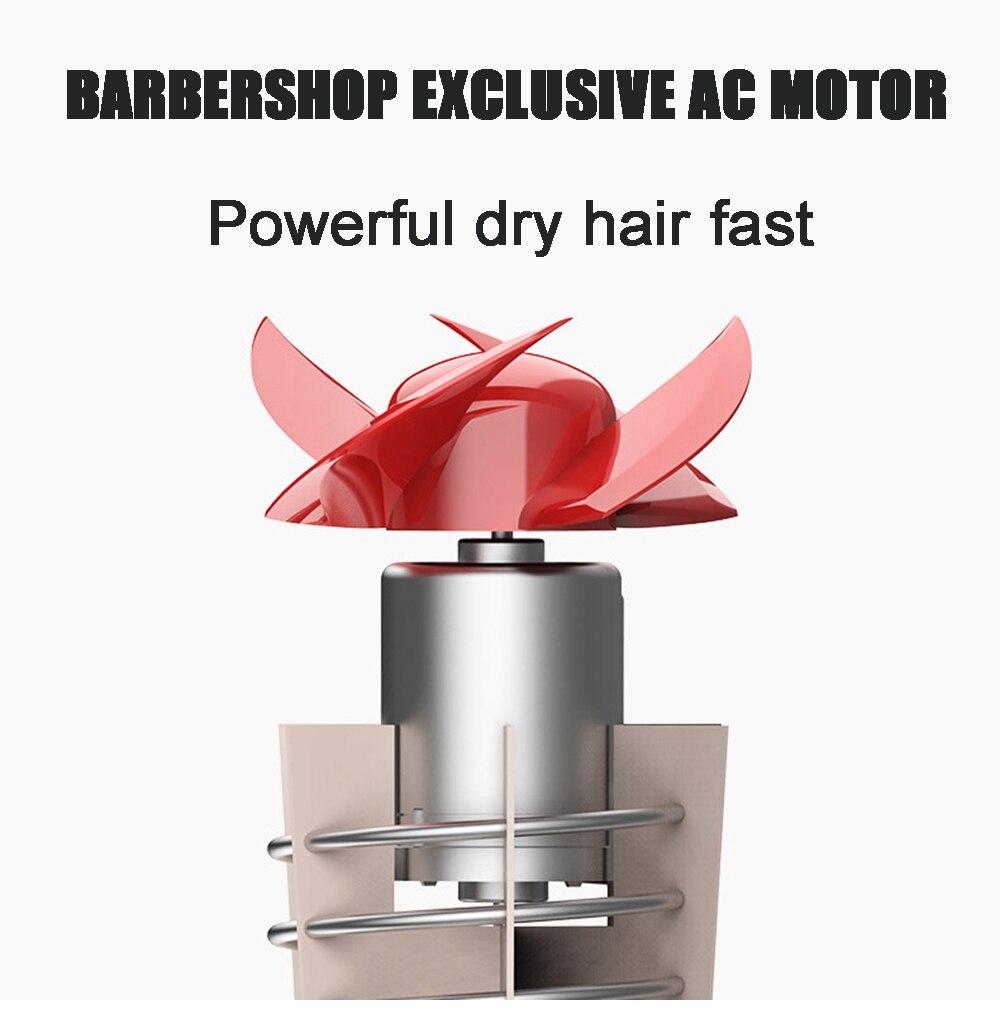 secador de cabelo iônico negativo com difusor