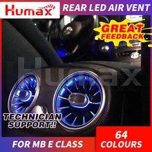 ¡64 colores del asiento trasero LED de ventilación de aire para mercedex Clase E w213 sincronizado con la luz ambiente accesorios de interior de coche!