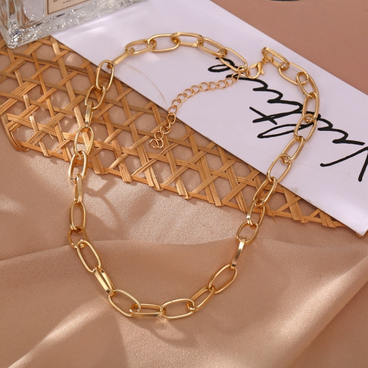 Retro catene della collana a catena per le donne Esagerazione collares collane del collare collier naszyjnik colar choker cadena oro fashi 2