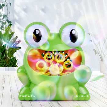 Baby Bath Toys Electric Bubble Blower Machine Frog Maker DJ Disco Club Kids Party Wedding Children's Outdoor Toy Gifts New 2020
