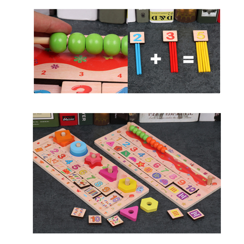 Learning Education Montessori Wooden Math Toys Puzzle Toys For Children Educational Equipment Geometry Toys
