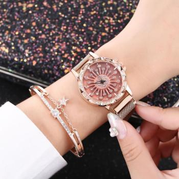 цена Ladies Watch Luxury Diamond Chic dial Women Watches Quartz Sport Mesh Alloy Band Wrist Watch Womens Watches montre femme онлайн в 2017 году