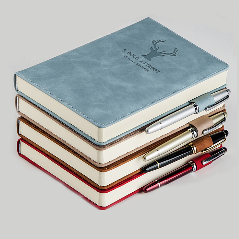 360 Pages Super Thick Wax Sense Leather A5 Notebook Business Office Daily Work Notebook NotebookS Free Portrayal Company Logo