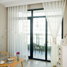White Linen Sheer Curtains For Living Room Modern Solid Tulle Curtain Bedroom Balcony Yarn Falx Voile Door Rideaux