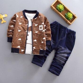 BibiCola primavera y otoño ropa de bebé establece niños chándales de marca de los niños trajes de deporte para niños camisa de manga larga + Pantalones 2 uds conjunto