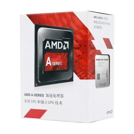 AMD APU A8-7680 A8 7680 3.5GHz R7 Quad-Core Desktop CPU Processor L2=2M 45W DDR3 Socket FM2+ New and with fan 2
