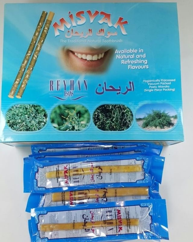 Set Of 10 Fresh Natural Toothbrush Miswak Miswak Arak, Siwak, Miswaak مسواك طيبة image