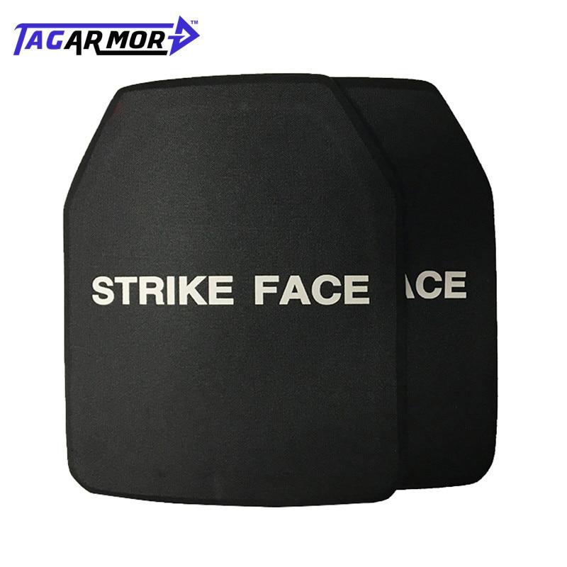 Tagarmor 2pcs/lot Military NIJ Standard IV ICW Ceramic Ballistic Plate Bullet Proof Armor Plate Insert Bullet Proof Plate