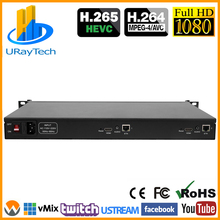 1U Rack HD 1080P 1080i 2 In 1 HDMI Video Encoder IPTV Encoder 2 Channels Live Streaming RTMP Encoder Hardware HDMI To H.264 H264