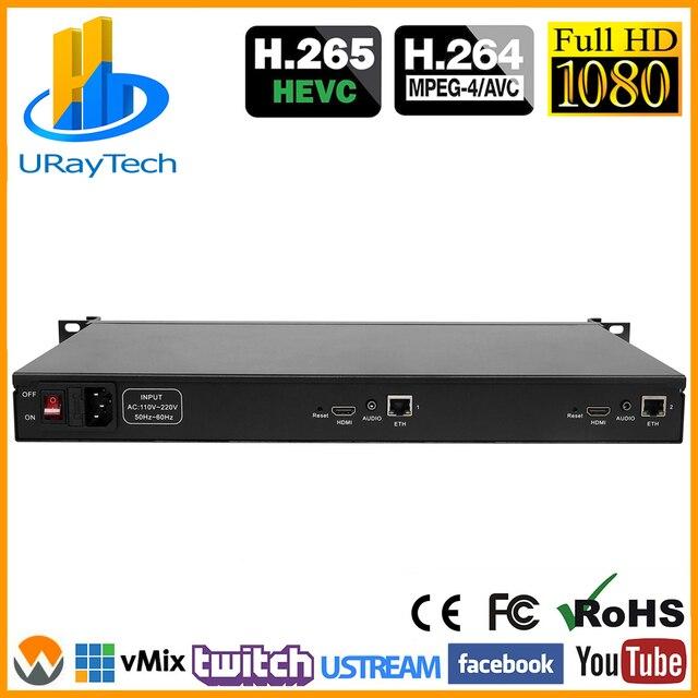 1U Rack HD 1080P 1080i 2 In 1 Video Encoder HDMI IPTV Encoder 2 ช่องสตรีมมิ่งสด RTMP Encoder ฮาร์ดแวร์ HDMI TO H.264 H264