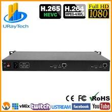 1U stojak na HD 1080P 1080i 2 w 1 HDMI koder wideo enkoder iptv 2 kanały przekaz na żywo RTMP enkodera sprzętu HDMI do H.264 H264