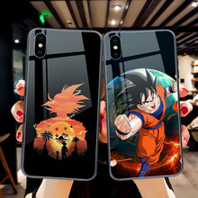 ciciber Dragon Ball Phone Case for iPhone 11 Pro Max 7 8 6 6S Plus Tempered Glass Back Shell for iPhone XR X XS Max Coque Fundas ciciber dragon ball phone case for iphone 11 pro max xr x xs max tempered glass cover cases for iphone 7 8 6 6s plus funda coque