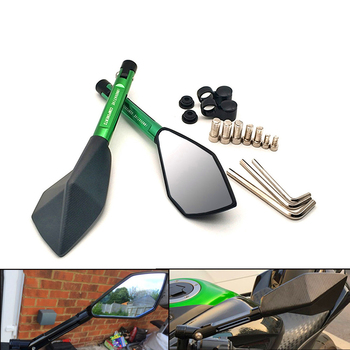 Espejos universales para motocicleta, espejo retrovisor lateral de aluminio para BMW F800 R1200 GS Adventure F800ST HP2 Enduro K1200 R S