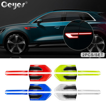 Ceyes 2pcs Car Accessories Door Leaf Board Reflective Stickers Decal Warning Reflective Tape Auto Reflective Strips Car Styling sports mind car covers reflective material car stickers decal car styling for peugeot 106 reflective sticker car accessories
