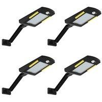 Solar Lights Outdoor, 48 Led Lamp, Waterproof Solar Flood Light, Security Motion Sensor Light Outdoor Luces Solares for Deck, Fe