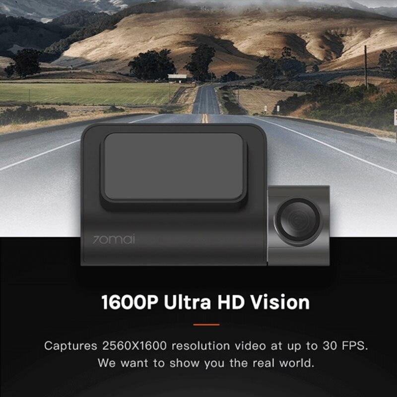 Xiaomi 70mai Smart Dash Cam Mini 1600HD камера ночного видения для вождения автомобиля 70 MAI g-сенсор приложение широкий обзор Wifi авто видеокамера