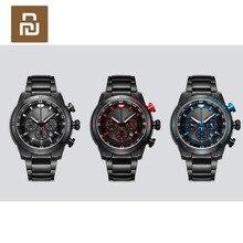 Youpin twentyseventeen 光学運動エネルギー腕時計 easyto 変換可視光フルメタルボディ多機能クロノグラフダイヤル