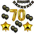 70 день рождения Черный счастливый день рождения баннер номер 70 баллоны 70 День Рождения украшения для взрослых 70 лет годовщина Декор 75D
