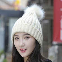 Tide Leisure Time Hats Lovely Student Winter Keep Warm Knitting Wool Hat Woman