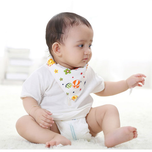 100% Cotton Baby Triangle Handkerchiefs Wipe The Saliva Super Soft  Free Shipping BB1
