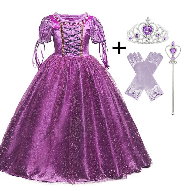 Princess Cosplay Costume Elegant Princess Dress for Girls Children's Party Dress-up 4-10T Kids Ball Gown 1