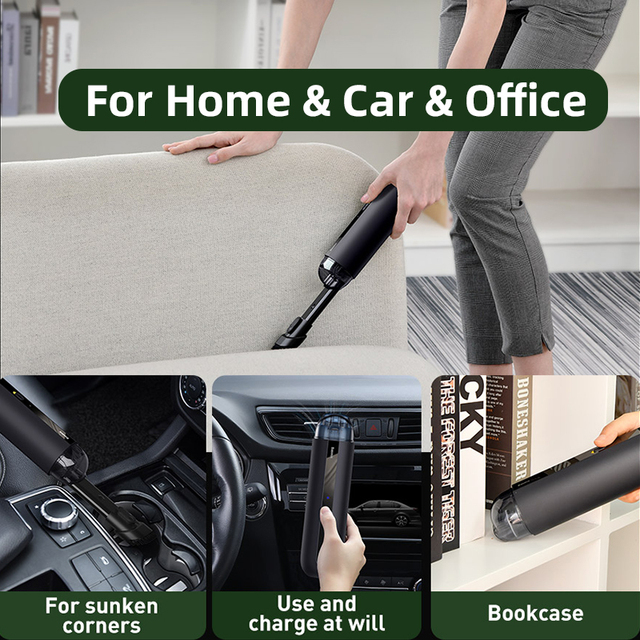 Baseus A2 Car Vacuum Cleaner Mini Handheld Auto Vacuum Cleaner with 5000Pa Powerful Suction For Home & Car & Office 4