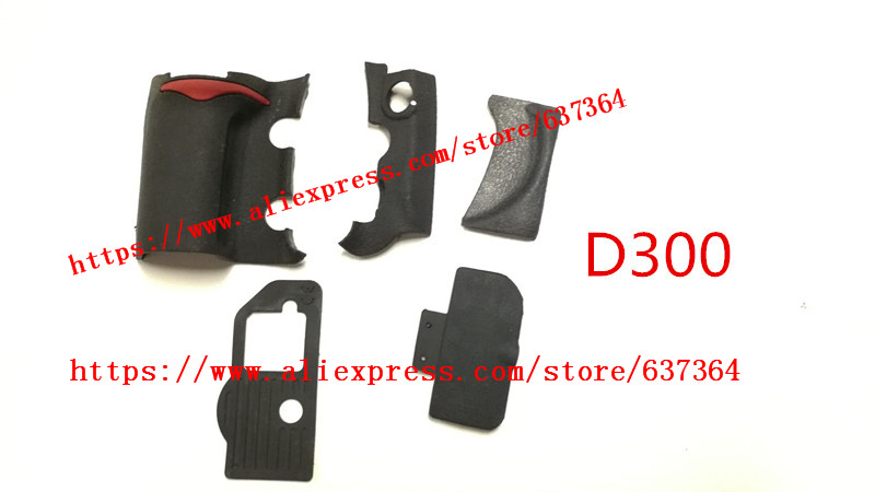 NEW A Set Of Body Rubber 5 Pcs Front Cover And Back Cover Rubber For Nikon D300 D300S Camera Replacement Repair Spare Parts
