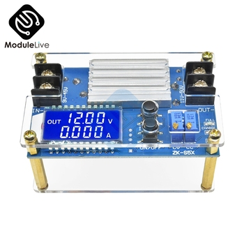 5A 80W Boost Constant Voltage Constant Current Power Supply LCD Display DC-DC Battery Charger Module Output 11V-50V 12V 24V 48V image