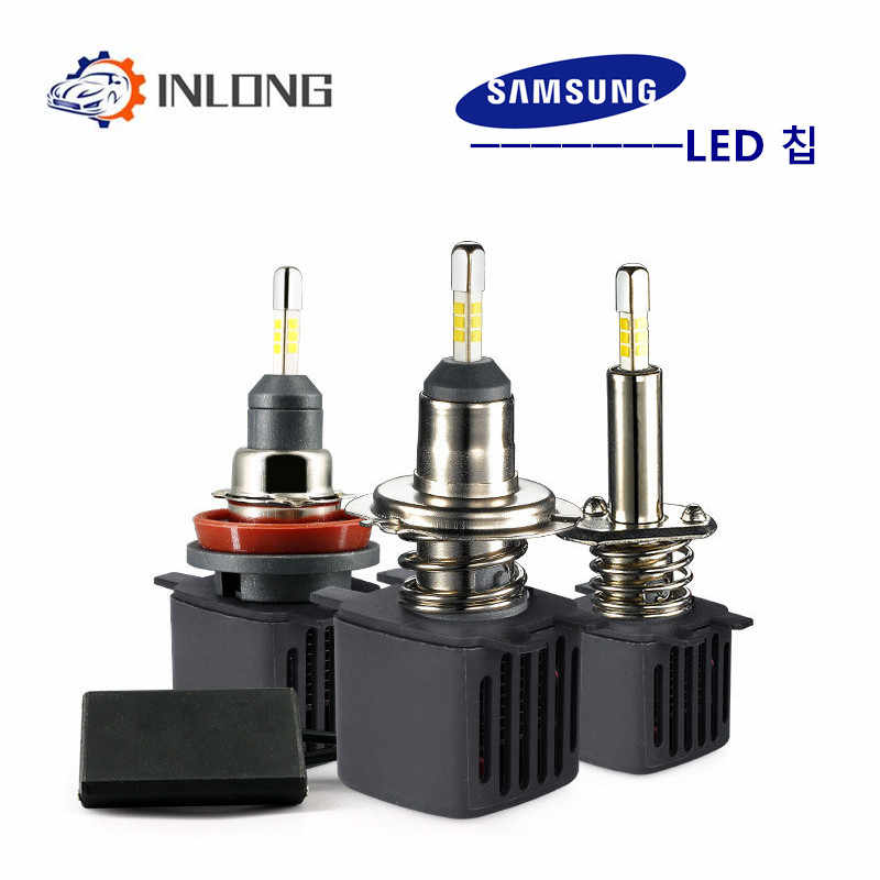 2Pcs H4 H7 LED Headlight Bulbs H11 H1 9005 9006 D2S D3S SAMSUNG Chips 10000LM 6500K Car Led  Auto Headlamp Headlights Fog Lights