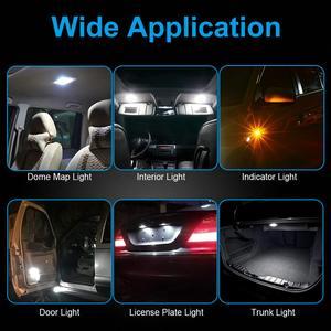 Image 5 - NAO T10 LED W5W Car Bulbs 6pcs 168 194 Turn Signal Auto Clearance Lights 12V License Plate Side Trunk Lamp COB White 3030 SMD