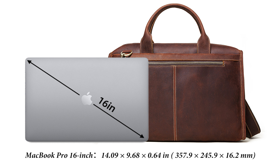 Men Briefcase Bag Leather Comfortable Laptop Handbag 2021 4