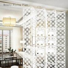 12 шт., 29 см X 29 см, украшение для дома, модный ажурный узор, подвесной экран, перегородка, панель, украшение для дома, белый цвет